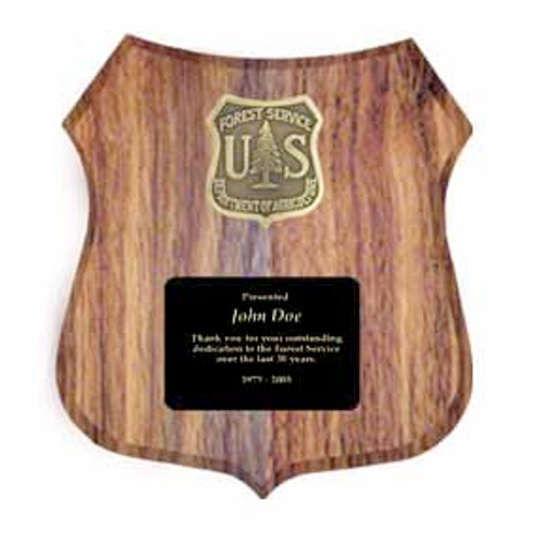 Forest Service Logo Plaque - Customized