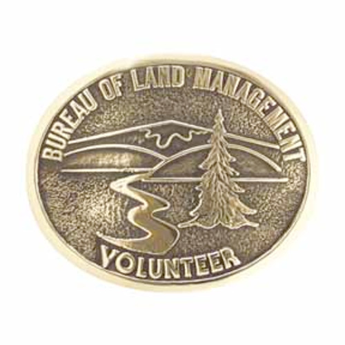 Bureau of Land Management Volunteer Buckle