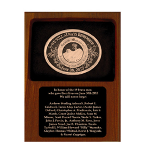 Granite Mountain Hotshots Plaque and Buckle