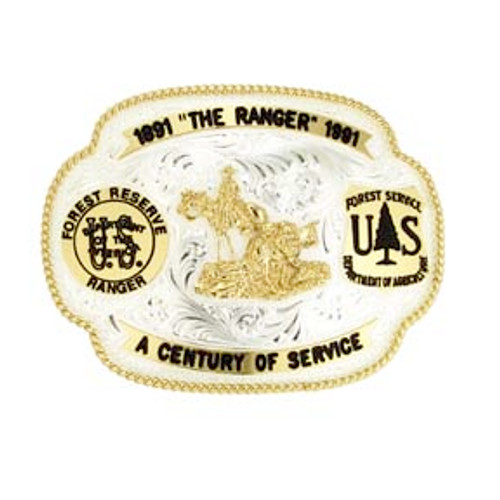 Forest Service Commemorative 1991 Centennial Plated Buckle
