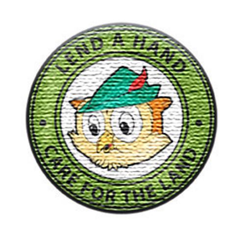 Woodsy Slogan Round Patch