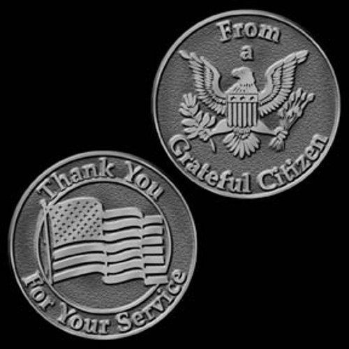 Grateful Citizen to a Veteran Coin