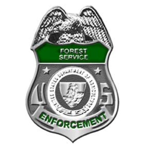 Forest Service LEI Silver Lapel Pin