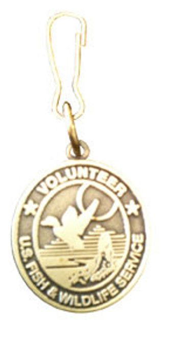 Fish & Wildlife Service Zipper Pull -  Volunteer Logo