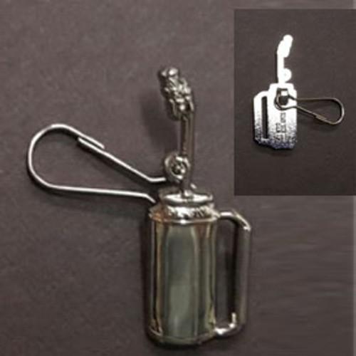 Drip Torch Zipper Pull