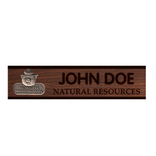 Desk Name Plaque - Walnut