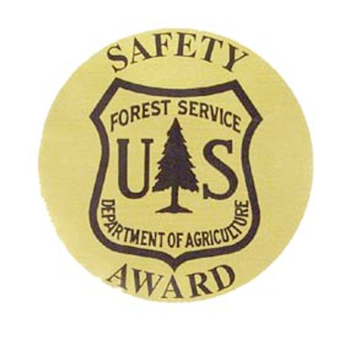 Forest Service Safety Award Decals-Gold
