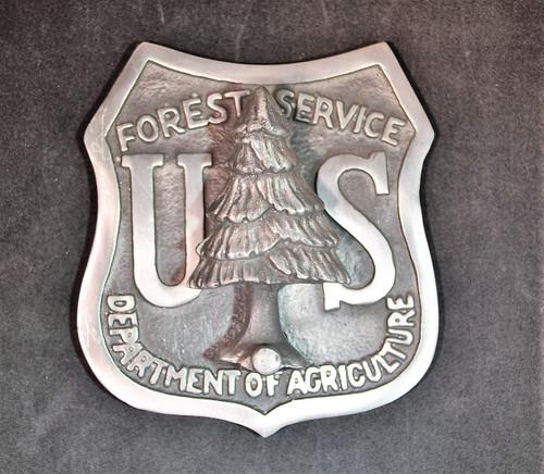 US Forest Service Shield Doorknocker (Silver Alloy)
