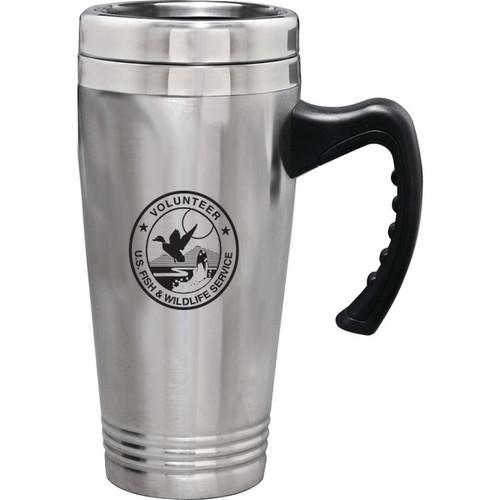 Stainless Steel Travel Mug - Fish & Wildlife Service Volunteer