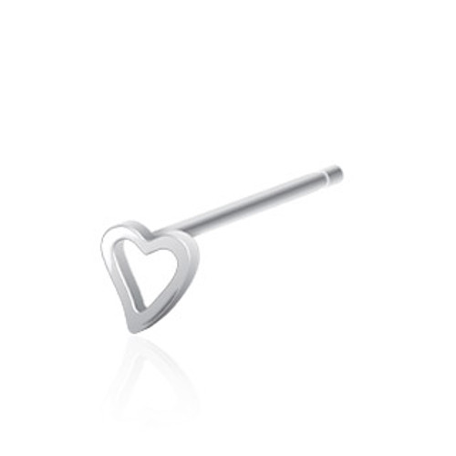 Heart Bendable Nose Ring (20 gauge)