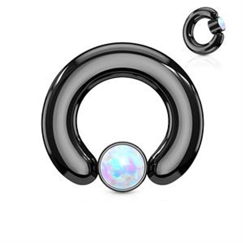 Big Opal captive bead rings (12 gauge - 2g)