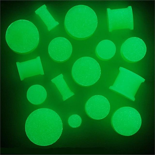 Glow In the Dark Silicone Plugs (8g - 1 inch)