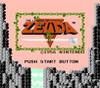 Legend of Zelda Gold Nintendo NES game title screen image pic