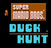 Super Mario/Duck Hunt nintendo nes in game title screen shot.