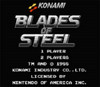 Blades of Steel NHL Hockey Nintendo NES game title screen image pic