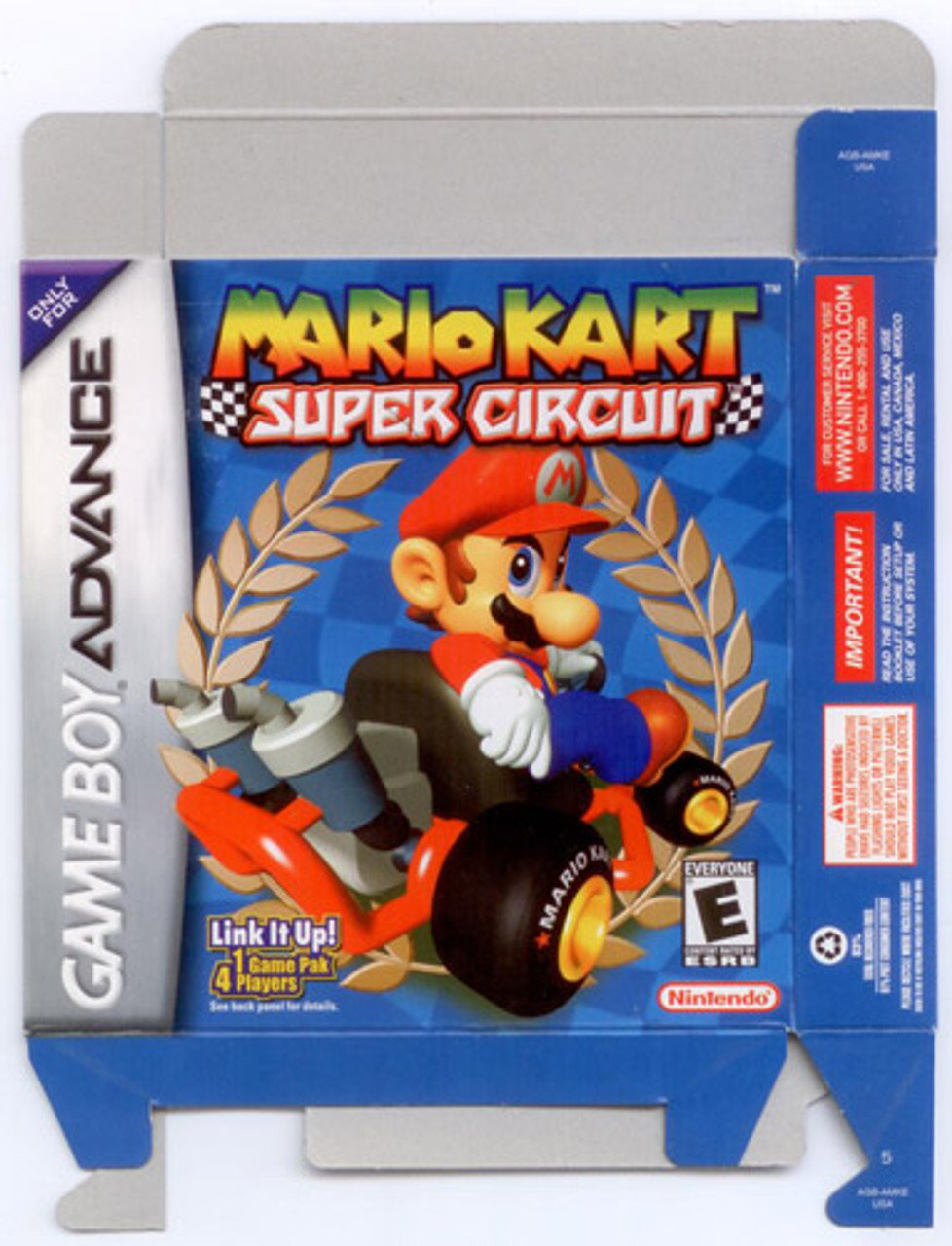 Empty Box Mario Kart Super Circuit GameBoy Game Advance ...