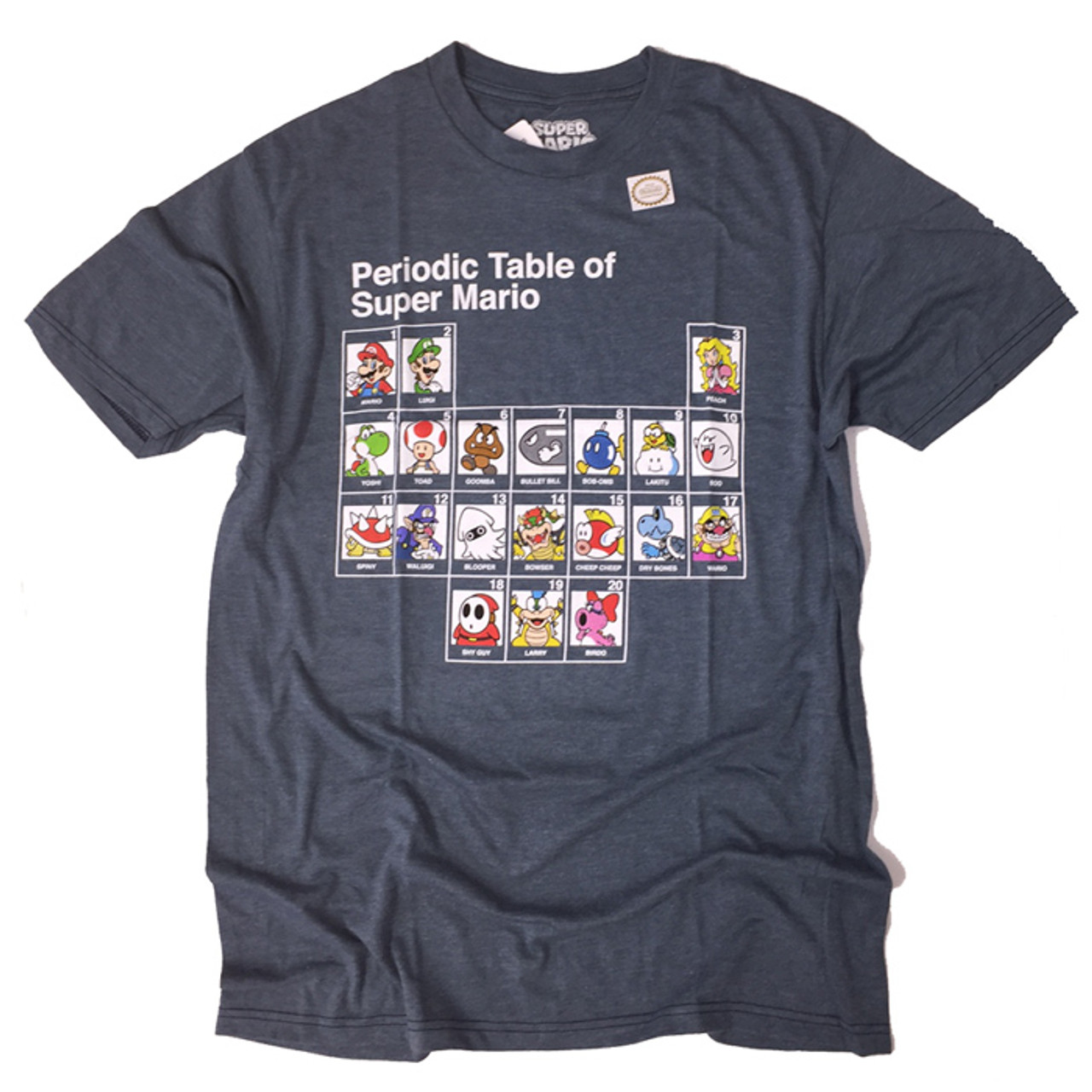 Periodic Table Of Super Mario Licensed T Shirt For Sale Dkoldies