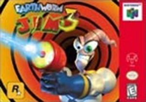Earthworm Jim 3D Nintendo 64 N64 game box front image pic