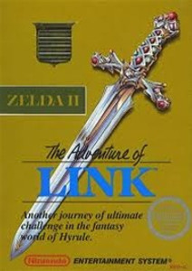 Adventure of Link Gold (Zelda II) Nintendo NES game box image pic