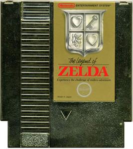 Legend of Zelda Gold Nintendo NES game cartridge image pic