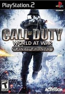 Call of Duty World At War Final Fronts - PS2 Game
