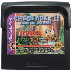 Chuck Rock II Son of Chuck - Game Gear Game