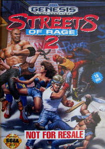 Streets of Rage 2 Not for Resale - Genesis Game