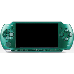 Sony PSP 3000 Green Metal Gear Solid Edition Handheld System With Charger