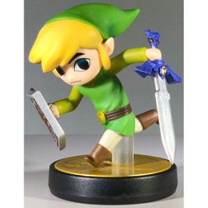 Toon Link Amiibo Loose figure from Cartoon Legend of Zelda Windwaker for sale.