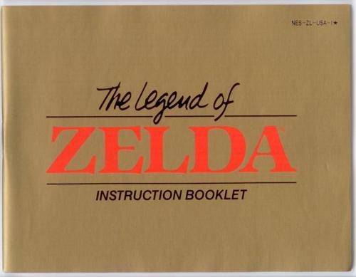 Manual Legend Zelda Nintendo Nes Instructions For Sale Dkoldies