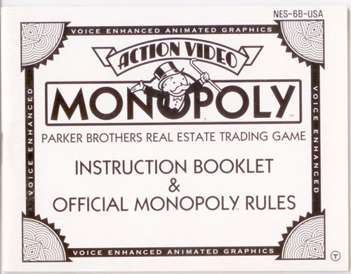 Manual Monopoly Nintendo Nes Instructions For Sale Dkoldies
