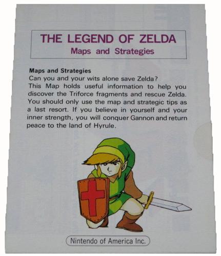 Manual Legend Of Zelda Maps And Strategies Nintendo Nes For Sale