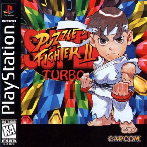 Super Puzzle Fighter II Turbo ps1 box