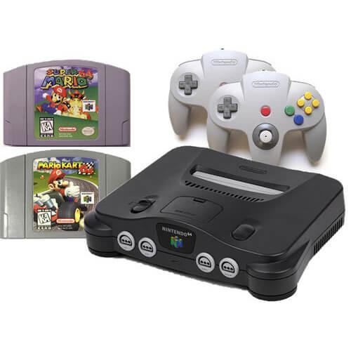 Original nintendo 64 system console super mario kart n64 bundle pak - Super nintendo 64 console ...