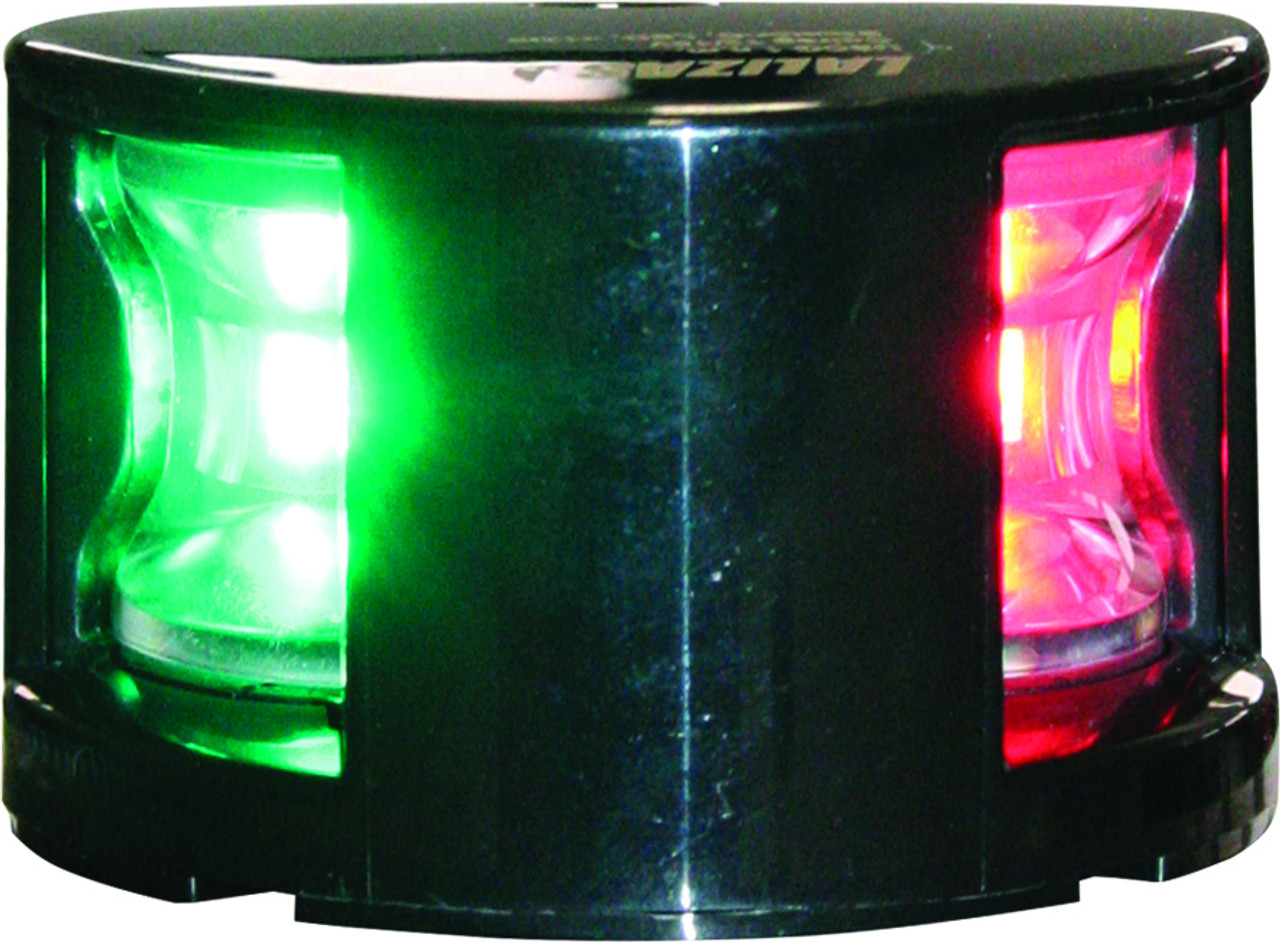 'FOS 12' LED Bi-Colour Nav Light - Black Horizontal mount