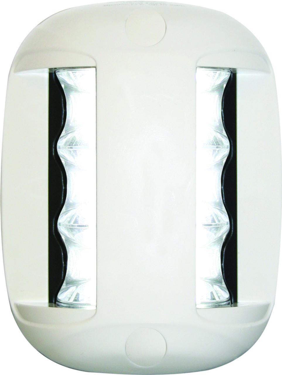 'FOS 20' LED Masthead Light - White Vertical Mount