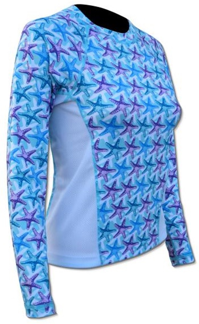 SPF 50 - Ladies Print Top - Starfish
