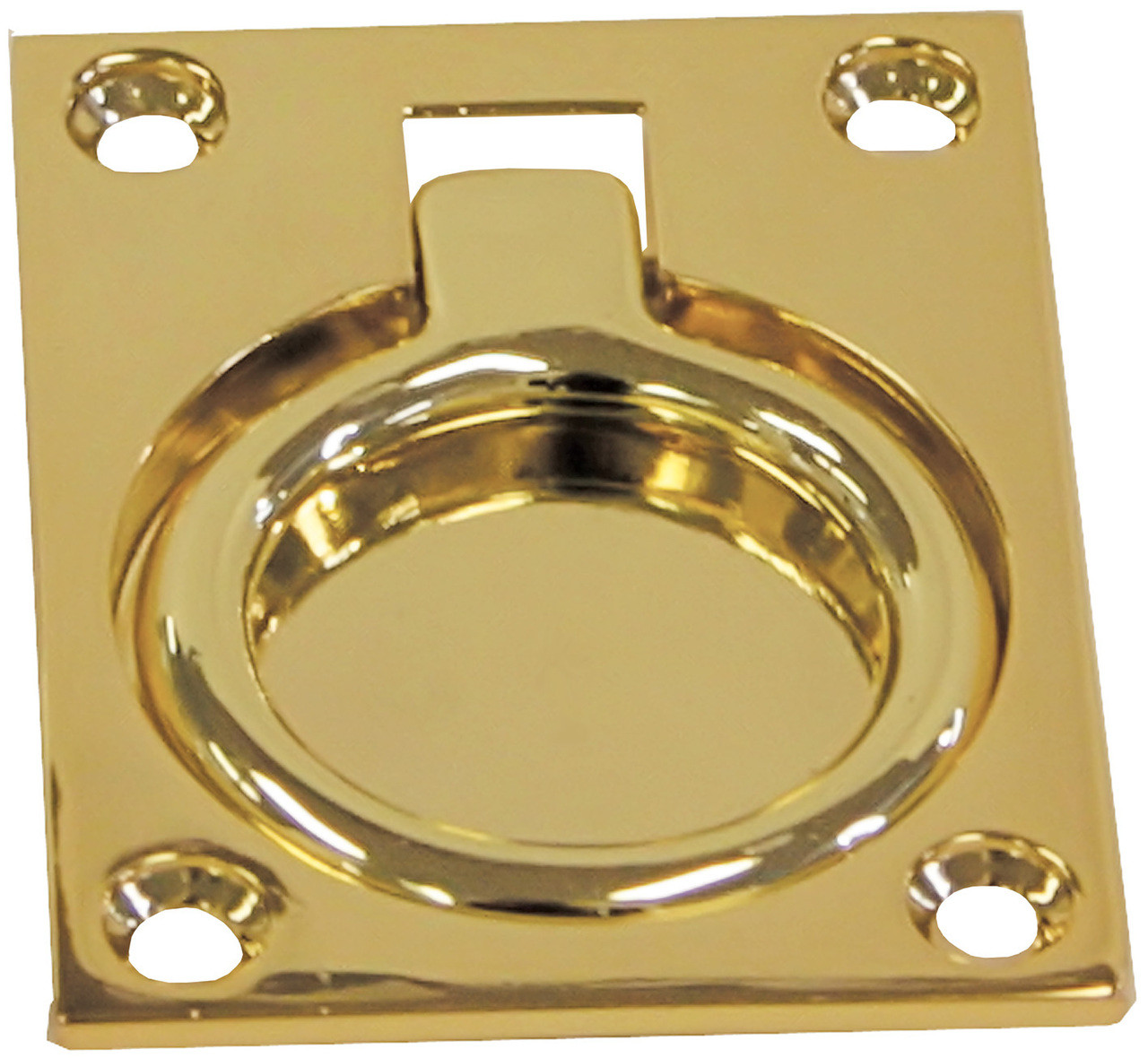 Brass Flush Ring Pull - Large