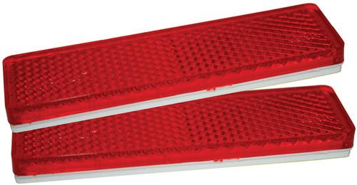 Reflectors 85x22mm Red