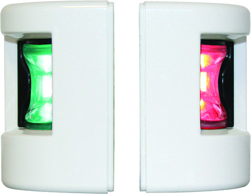 "FOS 12"""" LED Port & Starboard Lights - 12 Mtr White"