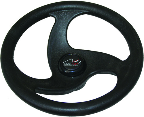 "Multiflex Sports Wheel - ""Sigma"" 3 Spoke - Black"