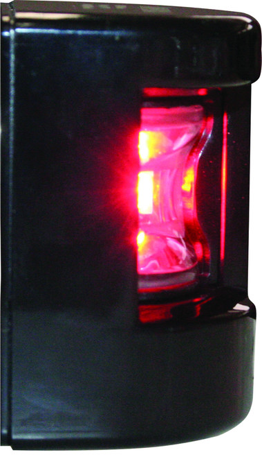 'FOS 12' LED Prt & Stb lights - Black vertical mount