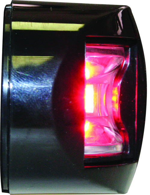 'FOS 12' LED Prt & Stb lights - Black Side Mount