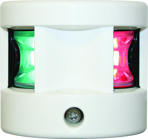 'FOS 12' LED Bi-Colour Nav Light - White Vertical mount