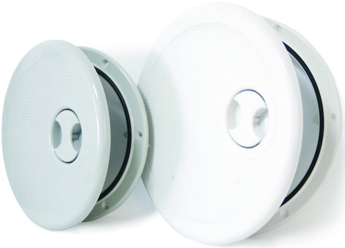 Round Hinged Access Hatch - White Sml