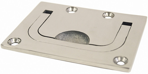 Flush Pull Heavy Duty Cast Stainless Steel 76mm x 57mm