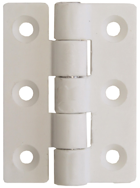 Nylon Butt Hinge - White 63mm