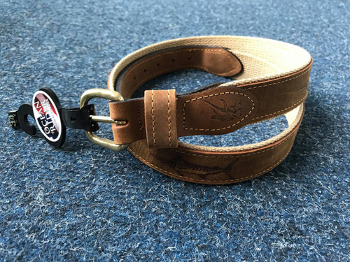 Ocean Rider Handmade Leather Marlin Embossed Belt