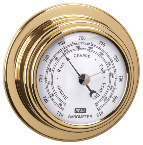 Barometer - 120mm Polished Brass