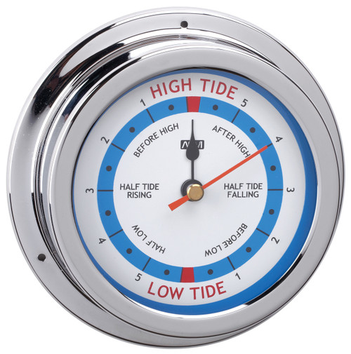 Tide Clock - 120mm Chrome Plated Brass